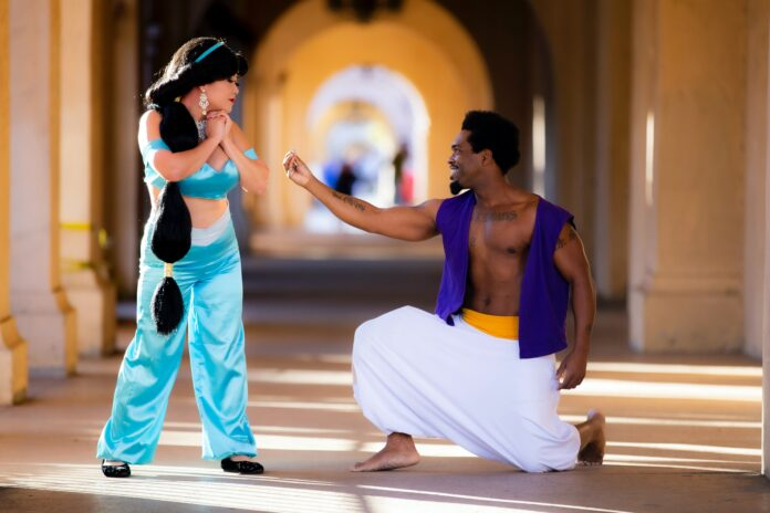 Aladdin with his beloved
